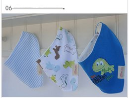 Wholesale 2015 New Arrival Cotton Baby Bib Double Layers Baby Feeding Bibs Triangle Baby Bibs Burp Cloths