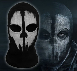 Wholesale Halloween Mask AAAA Quality New call of duty X Ghosts Mask Outdoor Hat Cycling Bike Motorcycle Windproof Mask CS Game Face