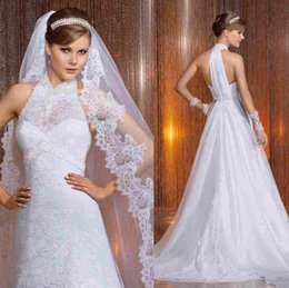affordable high collar lace wedding dresses sleeveless a line chapel train designer delicate autumn new beaded backless hot bridal gowns