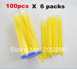 100pcsX6 maquiagem cílios falsos Lashes Remover zaragatoas sem fiapos Micro Brushes Cílios Extensão Ferramentas Lash Glue Ferramenta EC03