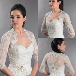 Wholesale 2015 Spring Lace Bridal Wraps Sleeves Boleros Lace Wedding Bride Jackets Wedding Dresses Boleros Jackets Wedding Cape Ladies Jackets