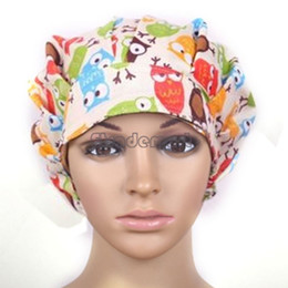 Wholesale Adjustable Types Nurse Doctor Floral Print Loose Cap Medical Surgical Surgery Hat Kitchen Anti dust Hat