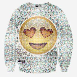 online shopping Andy Harajuku style men women D sweatshirt funny print smile faces emoji sweatshirts long sleeve cartoon hoodies autumn tops