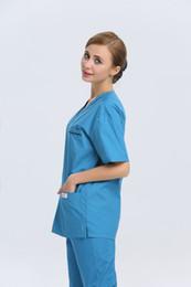 Wholesale 2015 OEM women hospital medical scrub sets dental clinic nurse uniform medical work wear nursing scrubs