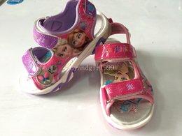 Wholesale 2014 New Arrived Frozen Elsa Anna Princess Girl Sandals Shoes Size Girl Frozen Sandals Match Frozen Dress
