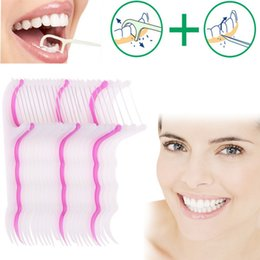 Wholesale New Arrival Pack Dental Floss Flosser Brush Tooth Pick Oral Care Teethpick Sword SU