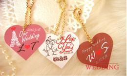 En Stock encargo de la boda Etiquetas Tarjeta favor y gracias las tarjetas 2015 100Pcs / Lot liberan