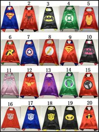 Wholesale 70 style Kids Super hero capes baby boys girls cape superman baby halloween cosplay costume cm TMNT frozen cloak styles J042801