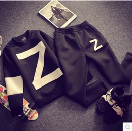Wholesale Hip Hop Jordan Sweatshirt Loose Mens Hoodies Z Letters GD Style Space Cotton Mens Tracksuit Set Tops trousers Set Black Oversize S XL
