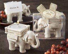 Creative éléphants bougie Ornements de table Titulaire Titulaire de la carte de mariage Livraison gratuite