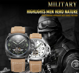discount men watches usa 2017 whole men watches usa on usa combat troops mens hand wind mechanical wrist watch luxury brand modern new calendar week months good quality leather watches for men