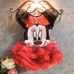 Wholesale Bear Leader Summer New children Girl s dress Suit Minnie Mouse kids Clothing sets princess girls clothesAQZ050