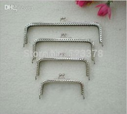 coin purse frames fgz3  20pcs 85 10 12 15cm Coin Purse Frame Sliver Metal Frame Square Kiss Clasp  DIY Sew in Bag Handle Clutch Accessory Sewing Craft