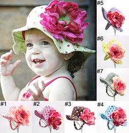 Wholesale Gifts for baby Hot Caps Casual Flower Sun Printed Basin Canvas Topee Kids Hats Baby Beanie Caps New Fashion Children Bucket Hat