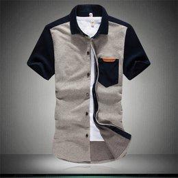 Wholesale Christmas Gift the new summer British leisure knitted men s short sleeve shirt big yards men s M xl