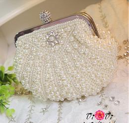 Wholesale Luxury Evening Bag Clutch bags Bride Bag Purse Crystal Pearl full dress Party Handbag Shoulderbag Wedding Valentine s Gift