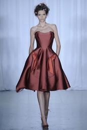 Wholesale 2015 Off the shoulder Fashion Satin tea length Celebrity Formal Dress Evening Dresses
