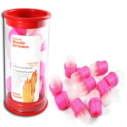 Wholesale Hot Polish Remover Wearable Rubber Women Nail Art Soakers Off Removal UV Gel Acrylic Tips Cap Reusable DTY Tools