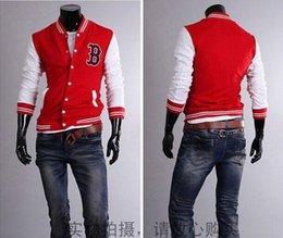 Wholesale Fall new mens baseball jacket leather sleeves bbc billionaire boys club jackets uniform college letterman winter coat