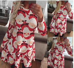 Plus Size Christmas Print Dress Online - Plus Size Christmas Print ...