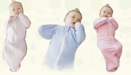Wholesale baby sleepsack infant zip up swaddle baby sleeping bag cotton swaddling blanket wrap swaddle wrap blanket in stock