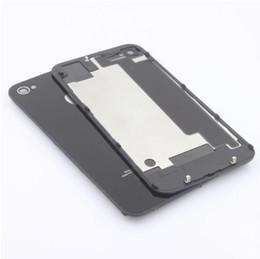 Хорошее Guality Заднее стекло Батарея Корпус Дверь задняя крышка Замена части С рассеиватель для IPhone 4 4G 4S DHL свободной