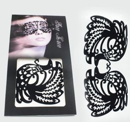 Wholesale High quality false eyelashes sticker eyeshadow stickers lace eye makeup paper cut party face stickers lowest price