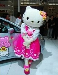 Wholesale hello kitty cat cartoon costume Cat Mascot Costume Hello Kitty Cat Character Cartoon Costume