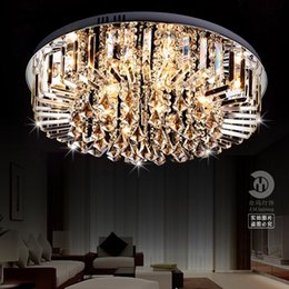 wholesale cheap shipping led crystal lamp modern minimalist living room ceiling lamp round dining room lighting fixtures c122 cheap dining room lamps on cheap dining room lighting
