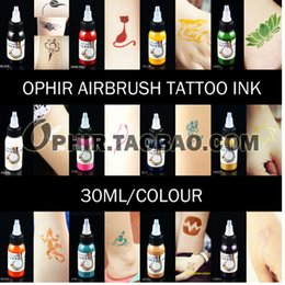 Wholesale OPHIR Color x ML Bottle Airbrush Body Art Paint for Temporary Tattoo Inks Pigment