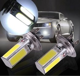 Discount wholesale fog lights H7 20W Xenon LED COB Fog Light Bulb Headling lights Lamp for Auto Cars H4 H8 H11 9005 9006 1156 1157 Driving Light