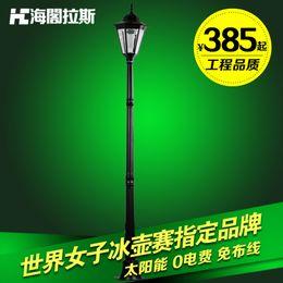 Solar Pole Lights Outdoor: 2017 solar pole lights outdoor Wholesale-Solar garden lights led garden  lights high pole lamp,Lighting