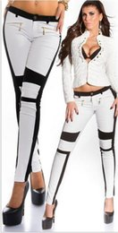Wholesale Running Trousers Women girlfriends Fashion Spain Elastic Mid Waist Hot Zipper Skinny Pant fashion leggings
