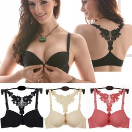 Wholesale New Sexy Women Front Closure Lace Racer Back Racerback Push Up Bra Hot SV001191