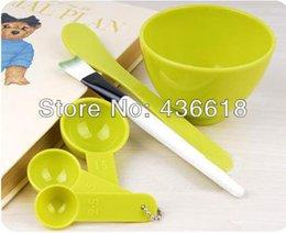 Wholesale 5 sets in Face Beauty DIY Tools Facial Mask tools mixing Bowl Brush Spatulas Spoon JF