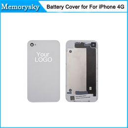Para Iphone 4 4G cristal de la cubierta blanca Vivienda DHL envía 100% de calidad El precio más bajo de la 111189C