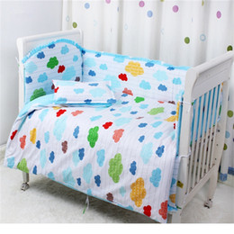 Wholesale Baby crib bedding set cotton crib bumper included chlidren sheets baby bedding set