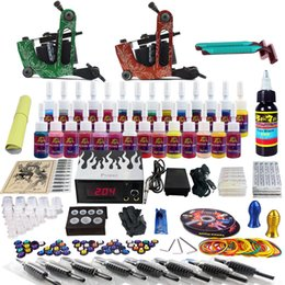 Wholesale New Pro Machine Guns Tattoo Kit Inks Power Supply Needle Grips TK248 by DHL