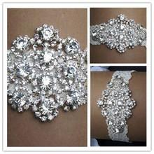Wholesale Real Image Sexy Lingerie Rhinestone Lace Pair Bridal Garters Belt Wedding Garter Fashion Wedding Accessories for Women