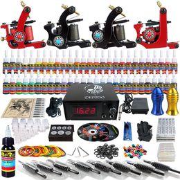 Wholesale Solong Tattoo Complete Tattoo Kit Pro Machine Guns Inks Power Supply Needle Grips TKD01