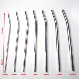 Wholesale 7 Size Newest Male Stainless steel Urethral Sounding Stimulate Plug urethra stretching Chastity Device adult BDSM sex toys product