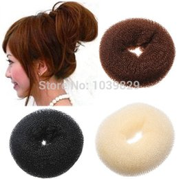Wholesale 3pcs Hair Styling Tool Accessories Hair Roller Bun Ring Donut Shaper Maker S M L size for select