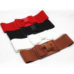 Wholesale Fashion Accessories bow belts waistband cummerbund bow knitted ultra wide elastic waist belt