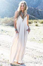 Wholesale 2015 Vintage Hippie Boho People Long Maxi Evening Party Chiffon Dress Beach Dresses