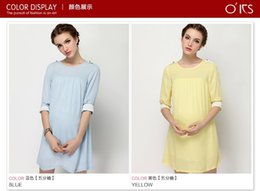 Wholesale Short sleeved chiffon dress pregnant women skirt pregnant women loose XL spring and summer