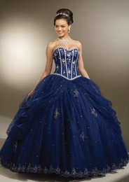 Wholesale Quinceanera Dresses with Jacket Navy Blue Applique Beads Prom Ball Gowns Floor Length Birthday Party Dress Backless Special Occasion Dress