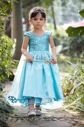 Wholesale Frozen frozen Aisha elsa girls dress skirt short sleeved dress princess dress costumes
