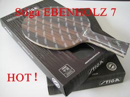 Stiga EBENHOLZ 7 tennis de table raquette de tennis de table ping pong tennis de table caoutchouc long poignée shakehand freeshipping