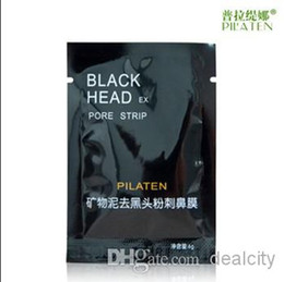 Wholesale Best PILATEN Suction Black Mask Face Care Mask Deep Cleaning Tearing Style Pore Strip Deep Cleansing Nose Acne Blackhead Facial Mask g