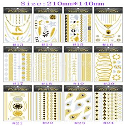 Wholesale 2015 new body art metallic temporary tattoo sexy product jewelry bracelet flash gold tatoo henna tattoos tatuagem
